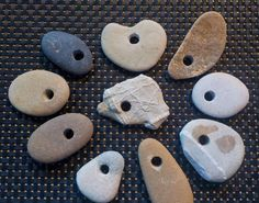 Natural Australian Drilled Beach Stones for by AllAussieOpals Australian Beach, Beach Stones, Heart Shapes, Drill, Natural, Projects, Crafts, Log Projects, Hole Punch