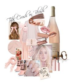 """""""Crush on Blush"""" by helencollinson on Polyvore featuring Hostess, Lime Crime, Huda Beauty, Too Faced Cosmetics, Francesca's, Uniqlo, Urban Decay, Valentino, Laura Biagiotti and Casetify"""