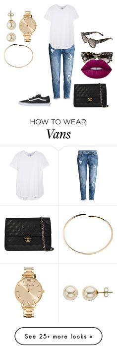 """"""""""" by lena1612 on Polyvore featuring H&M, Iris & Ink, Vans, VALLEY, Chanel, Olivia Burton, Maison Margiela, Lord & Taylor and Lime Crime"""