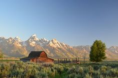 ~ Photo taken by Michael Faist for the Smithsonian Annual Photo Contest.Sunrise at Mormon Row, Grand Teton National Park - behind the barn is the Teton mountain range - taken at Grand Teton National Park, Wyoming on Parc National, Grand Teton National Park, National Parks, Scenic Photography, Nature Photography, Photography Tips, Wyoming, Nebraska, Ara Bleu