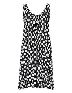 Spotted Vest Dress with StayNEW™ | M&S