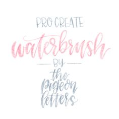 Water Brush for ProCreate | iPad Pro | Apple Pencil