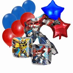 Transformers Party Balloon Bouquet - Jumbo Optimus Prime