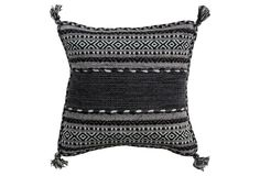 Trenza 18x18 Pillow, Gray. would probably cut off the tassels