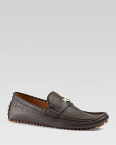 Gucci Dylan Small Plaque Driving Loafers