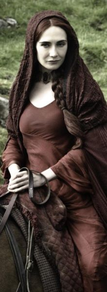 Carice van Houten as Melisandre (priestess of the God of Fire and Light and consort of Stannis Baratheon)