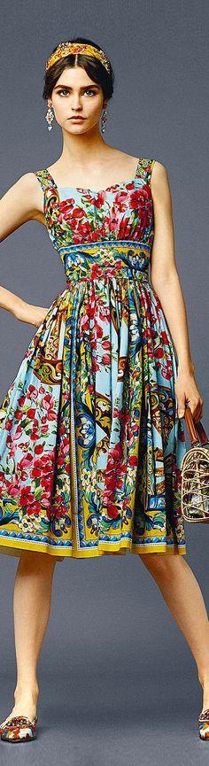 Beautiful printed dress | Dolce & Gabbana