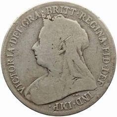 1899 Shilling Victoria Queen Great Britain Silver British Coin in British Coins > Victoria Coins Old British Coins, Coin Art, Victoria, Old Coins, Great Britain, About Uk, Zen, Nostalgia, Silver