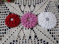 How to Crochet flower popcorn stitch | love Crochet |كروشيه : زهرة بغرزة...