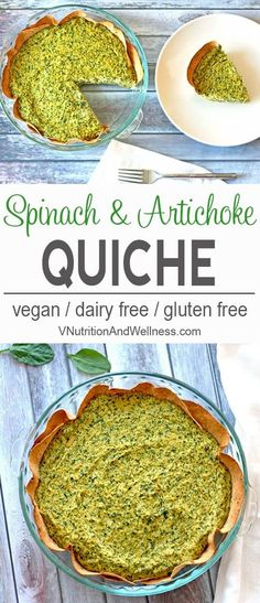 Vegan Spinach and Artichoke Quiche