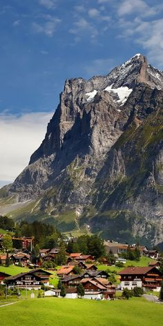 Attractive Switzerland Village Under Mountains and this is a most nice looking…