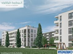 Außenillustration - vielfalt freiham #vielfaltfreiham #München #Freiham #Illustration #Visualisierung #Architektur #Neubau #Neubauprojekt #Eigentumswohnungen #Balkon #Wohnen