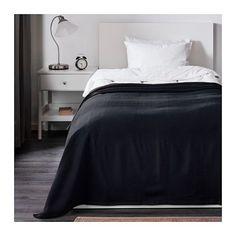 IKEA - INDIRA, Päiväpeitto, 150x250 cm, , Kudottu puuvillapäiväpeitto antaa sängylle elävän ja…