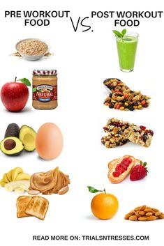 After Workout Food, Post Workout Snacks, Food Workout, Pre Workout Snack, Best Pre Workout Food, Pre Workout Drink, Vegan Pre Workout, Meals Before Workout, Workout Drinks