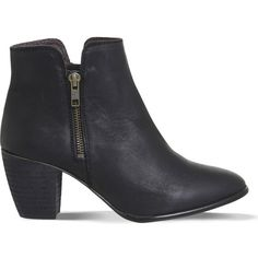 OFFICE Justine leather ankle boots ($110) ❤ liked on Polyvore featuring shoes, boots, ankle booties and black leather