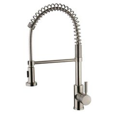 Yosemite Home Decor Single-Handle Spring Pull-Out Sprayer Kitchen Faucet in Brushed Nickel-YP2814A-BN at The Home Depot $298
