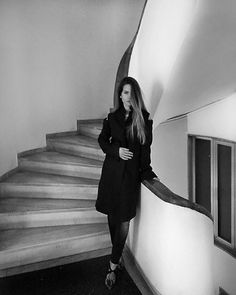 #winter #outfit #blackandwhite #photo #art by @ms_doumpa #fashion #Coat #aishaDiri #winter