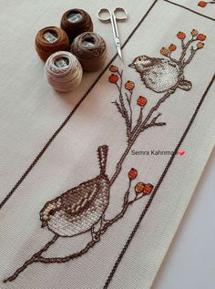 Cross Stitch Patterns, Shabby Chic, Birds, Letters, Embroidery, Marque Page, Cross Stitch Embroidery, Little Birds, Ideas