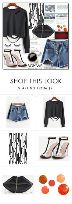 """Romwe 4 / III"" by esma178 ❤ liked on Polyvore featuring WWE, Coffee Shop, tarte, romwe, womenfashion, fallfashion, PolyvoreMostStylish and bestof2017"
