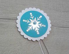 Toper doces Frozen floco de neve prata