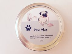 Handmade Paw Wax, Protective Salve for Dogs and Cats, Pet Balm, for paw pads and noses, organic ointment for animals by OverTheRainbowSoaps