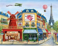Paris Painting - To Paris With Love II by Marilyn Dunlap