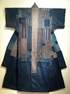 Kind Of Blue, Denim Ideas, Japanese Textiles, Clothing And Textile, Wabi Sabi, Vintage Japanese, Shibori, Old And New, Textile Art