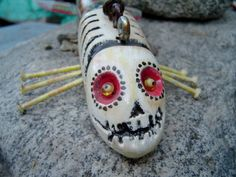 Day of the Dead Skeleton Ice Fishing Decoy by pasadenagary via etsy..