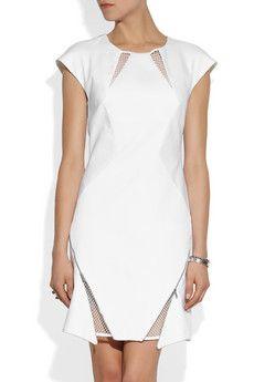 RICHARD NICOLL Mesh-paneled cotton dress