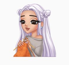 Knitting Girl by Unknown Ariana Grande Drawings, Ariana Grande Wallpaper, Clouds Wallpaper Iphone, Nature Wallpaper, Character Art, Character Design, Bae, Digital Art Girl, Princess Zelda