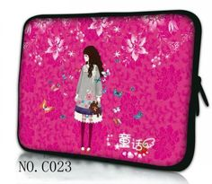 """Hot Rose Red Girl Laptop Soft Sleeve Bag  Pouch For 10.1"""" 11.6"""" 12"""" 13.3"""" 14"""" 15"""" 15.6"""" Samsung Google Chromebook/SONY Asus Acer. Yesterday's price: US $14.69 (12.12 EUR). Today's price: US $11.46 (9.45 EUR). Discount: 22%."""