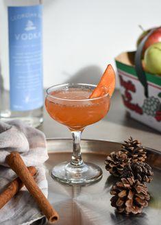 Georgian Bay Spirit Co. Cinnamon Syrup, Apple Cinnamon, Cinnamon Sticks, Vodka Recipes, Thing 1, Apple Slices, Lime Juice, Georgian, Apple Cider
