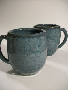 Speckled blue coffee tea  Hot chocolate or by HappyHeartPottery, $18.00
