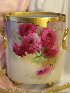 Bavarian Cache Pot Vase