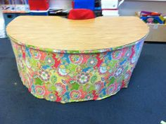 How to make a Kidney Table skirt