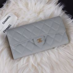 Chanel A80758-16 Quilted Long Flap Wallet