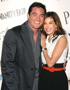 Dean Cain and Teri Hatcher. old and pretty
