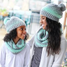 You will be so warm and cozy in this super-soft scarf and hat set, available in both adult and child sizes!