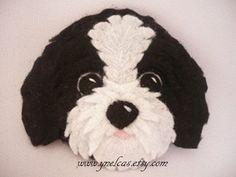 Felt Dog ornament - Shih tzu felt dog - personalized ornament - Christmas ornament