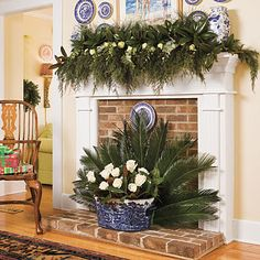 Classic Williamsburg blue for Christmas decorating