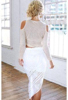 Stylekeepers - crochet drape skirt
