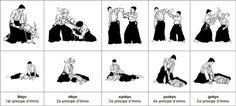 IKKYO : signifie premier enseignement avec le sens de base de toutes les techniques. NIKYO : se dit d'un exercice de poignet. SANKYO : On utilise souvent cette technique pour se dégager ou prendre le tanto ou le katana des mains de l'adversaire. YONKYO : méthode de contrôle en écrasant un point faible du poignet de l'adversaire. GOKYO : technique contre une attaque au couteau