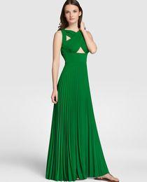 Vestido largo de mujer Elogy Colección Juanjo Oliva con falda plisada