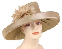 38f4ac8203b Women s Satin Formal Dress Church Derby Hats - HL81