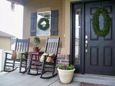 You Craft Me Up!: Summer Porch    I love the colours and the shutters