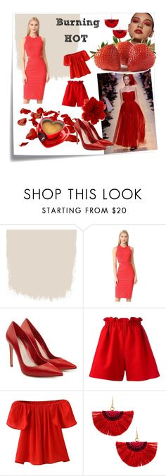 """""""burning HOT"""" by hillabechor ❤ liked on Polyvore featuring Post-It, Christian Dior, Amanda Uprichard, Alexander McQueen, Fendi, WithChic, Shashi and Gucci"""
