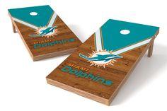 Miami Dolphins Cornhole Board Set - Uniform http://prolinetailgating.com/