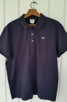 Lacoste Polo Shirt Navy Blue Size 9  4XL