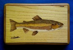 trout inlaid with various precious woods