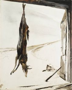 """Andrew Wyeth """"Young Buck"""" 1945, watercolor"""
